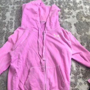 Retro Pink Victoria Secret 86 Hooded Jacket